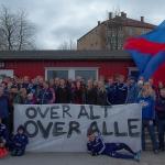 Supportersamling på Valle med Vålerengatrening