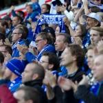 Oslo, Ullevaal - 20. september: Moldes supportere, Tornekrattet,  under Tippeligakampen mellom Vålerenga og Molde, 20. september 2014 på Ullevaal, Oslo (Foto: Anders Grydeland via www.grydis.no)